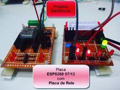 Placa de Desenvolvimento ESP8266 07e12. Com placa de rele. O vídeo completo está no YouTube da Projetos Eletrônicos  e no site http://ift.tt/1LFHAjb #esp #esp8266 #iot #arduino #wifi #maker #eletronica #projetos by wal_proj