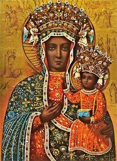 Religious Paintings, Religious Art, Religious Symbols, Madonna Statue, Madonna Art, Lady Madonna, Luke The Evangelist, Our Lady Of Czestochowa, Madona