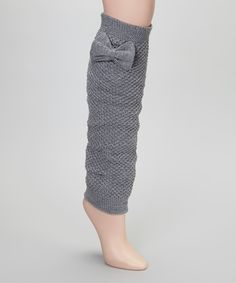 Light Gray Bow Leg Warmers | Daily deals for moms, babies and kids