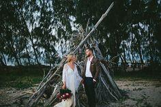 CAITLIN + ZAC // #wedding #bride #bridal #groom #flowers #floral #bouquet #pink #romantic #queensland #beach #island #ceremony #reception #photographer #realwedding