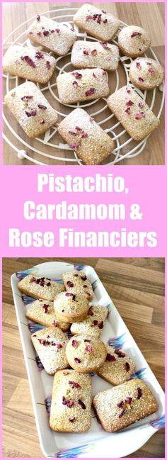 Pistachio, Cardamom and Rose Financiers