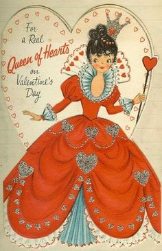 Queen of Hearts...couldn't wait till the valentine party at school..to see if that special boy gave you a card!