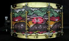 SJC Custom Drums - Snare Drum Wrap - Kevin Luong Illustration