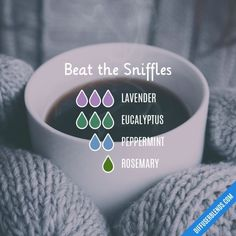 Beat the Sniffles - Essential Oil Diffuser Blend #EssentialOilBlends #Essentialoildiffusers
