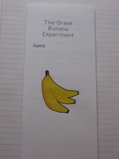 Interactive Science Notebooks 1 - The Great Banana Experiment...
