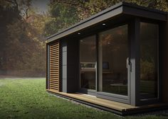 Pods to suit all needs from small home office use, garden studio pods & outdoor office commercial buildings. Outdoor Office, Backyard Office, Garden Office, Backyard Studio, Modern Tiny House, Tiny House Plans, Tiny House Design, Design Homes, Modern Homes