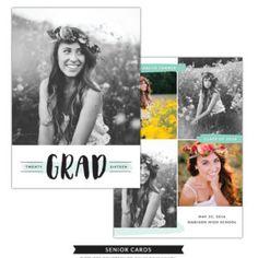 Senior card template for photographers. Greeting Card Template, Card Templates, Holiday Photo Cards, Holiday Photos, Senior Announcements, Class Of 2016, Enlarge Photos, Bird Design, Photoshop Elements