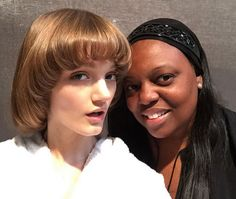 Peyton Knight et Pat Mcgrath au défilé Gucci