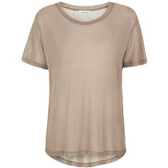 Agnes Tee found on Polyvore featuring tops, t-shirts, shirts, loose tee, short sleeve shirts, t shirt, loose fitting shirts and loose shirt