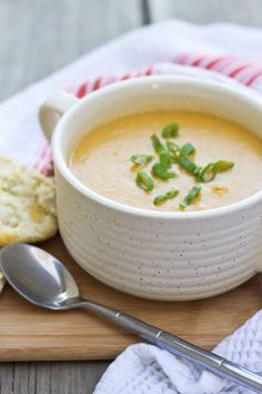 Red Lentil Carrot Soup with Whole Wheat Cheddar Dill Biscuits
