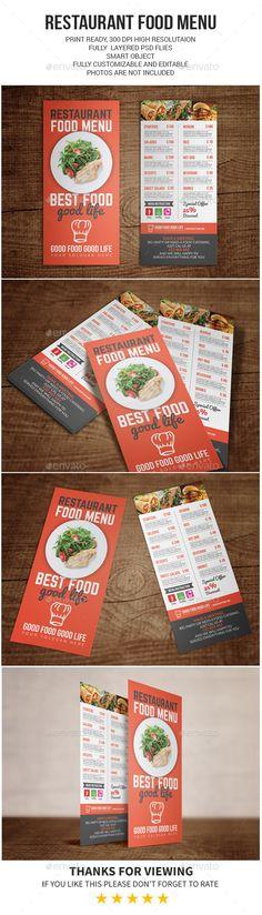 Restaurant Food Menu Template PSD #design Download: http://graphicriver.net/item/restaurant-food-menu/13251318?ref=ksioks