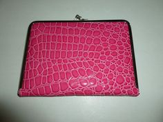 WOMEN'S FAUX CROC HOT PINK OR SPRING GREEN PHOTO ALBUM PICTURE CLUTCH #MAINSTREETCOLLECTIONS #PHOTOWALLET