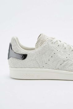 detailed pictures cada2 7be10 adidas Stan Smith White  Snake Metal Heel Trainers