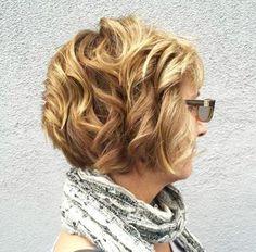 short bob haircut for curly hair