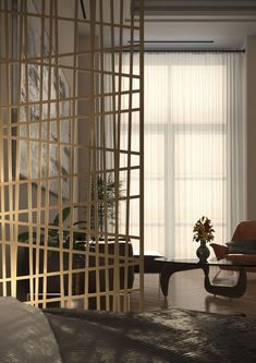 Shop online for unique and custom-made decorative screens for wall decor, room dividers, partitions, garden and privacy screens. Living Room Partition Design, Room Partition Designs, Decor Interior Design, Modern Interior, Interior Decorating, Decorative Screen Panels, Partition Screen, Privacy Screen Outdoor, Architectural Elements