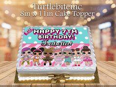 Surprise LOL Dolls Edible Image Cake Topper Party Decoration