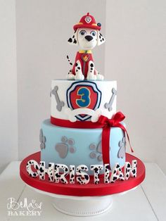 15 Fabulous Paw Patrol Birthday Cake Ideas with Amazing Pictures Paw Patrol Birthday Cake, 3rd Birthday Cakes, Paw Patrol Party, Third Birthday, 4th Birthday Parties, Boy Birthday, Birthday Ideas, Bolo Do Paw Patrol, Torta Paw Patrol