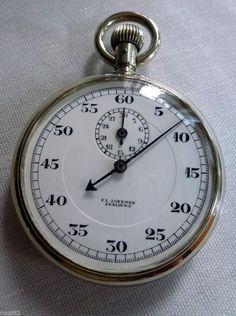 Vintage Loebner / Löbner stopwatch / stoppuhr in MINT condition