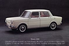 1964 Chrysler Simca 1000. I actually looked at one of these, but couldn't afford the $1999 price tag as a student.
