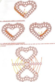 heart from beads #2