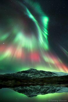 stunning Aurora Borealis photo - taken in Norway by Tommy Eliassen