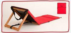 bolso-reposera Camping Furniture, Diy Furniture, Wood Crafts, Fun Crafts, Beach Hacks, Adjustable Beds, Summer Accessories, Tent Camping, Diy Woodworking