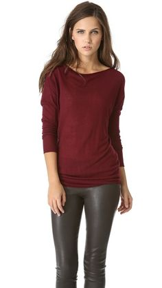 Vince Twisted Tunic Sweater