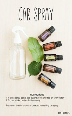 Cars are great for helping us get our errands accomplished as well as fun road trips. But, with all the adventures, our cars can tend to get stuffy and smelly. Try making this simple DIY car spray with essential oils to naturally freshen up your car. #essentialoils #eo #oils #lime #lavendaer #carspray #roadtrip #fresh #natural #car #grapefruit #tangerine