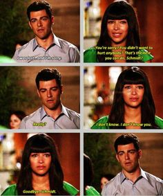New Girl - Cece & Schmidt #Season3 *cries* i loved CeCe and Schmidt... I hope they work it out!
