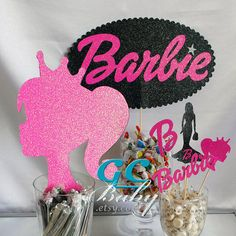 Barbie Party Centerpiece Decorations Any Color in por GCBaby