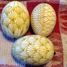 Pysanky work in progress Jodi Henninger.  Beautiful.