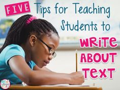 Diary of a Not So Wimpy Teacher: 5 Tips for Teaching Students to Write about Text Teaching Writing, Writing Activities, Teaching Ideas, Writing Ideas, Comprehension Activities, Teaching Tools, Writing Prompts, Teaching Resources, Third Grade Writing
