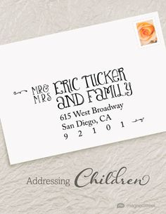 how to properly address wedding invites to include children magnetstreetcom