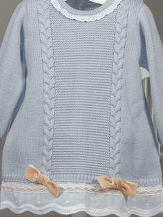 Vestido punto manga larga gris ondas Rochy de Bebe | Les Bébés Baby Princess, Quilling, Knitting, Children, Sweaters, Inspiration, Dresses, Fashion, Dresses For Babies