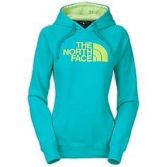 The North Face Women's Half Dome Hoodie ($31) ❤ liked on Polyvore featuring tops, hoodies, sweatshirt hoodies, embellished tops, the north face hoodie, hooded pullover and raglan top
