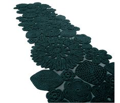 """Awesome crochet carpet by designer Patricia Urquilo on """"The Style Files"""". I want to do something like that, too! Wow!"""