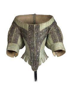 Ephemeral Elegance | Silk Bodice with Spangled Silver Lace, ca. 1660...