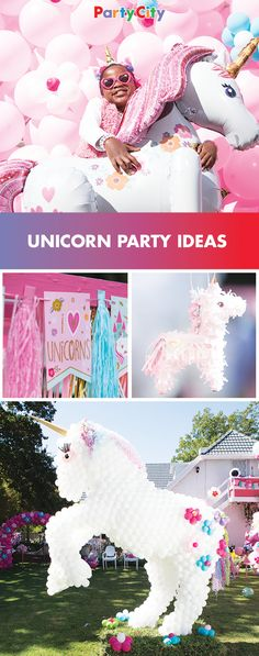 Make it a magical unicorn party. Shop Party City for fun unicorn birthday party supplies, decor and balloons that everyone will love. Unicorn Themed Birthday Party, Unicorn Birthday Parties, First Birthday Parties, Birthday Party Themes, 5th Birthday, Preschool Birthday, Birthday Ideas, Coraline, Party Shop