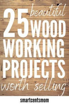 25 Beautiful Wood Working Projects Worth Selling Pallet wood projects are an easy way to make money from home! This list of pallet wood projects will inspire creative w Wood Projects That Sell, Diy Projects Cans, Wood Projects For Beginners, Scrap Wood Projects, Woodworking Projects That Sell, Wood Working For Beginners, Diy Pallet Projects, Diy Woodworking, Money Making Wood Projects