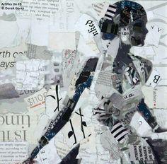 Oasis: Derek Gores Collage by Derek Gores Oasis Collage Portrait, Collage Artwork, Collage Artists, Mixed Media Collage, Abstract Portrait, Portrait Paintings, Painting Abstract, Acrylic Paintings, Art Paintings