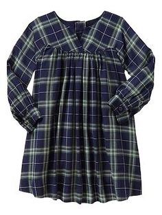 Gap plaid baby doll dress. Could totally see this paired with ripped black leggings and combat boots.