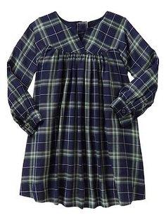 Plaid baby doll dress $44.95