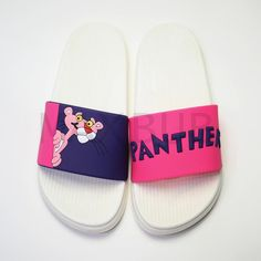 Outdoor Pink Panther Beach Slippers - Women Dresses for Every Age! Summer Slippers, Womens Summer Shoes, Slipper Sandals, Jelly Shoes, Pink Panthers, Shoe Company, Gucci Shoes, Luxury Shoes, Womens Slippers
