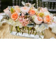 Low flower height allows for table conversation at the reception