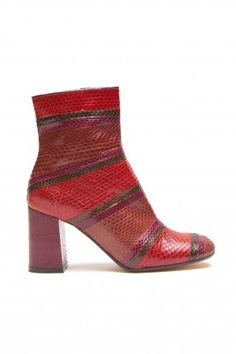 WHIPS STRIPES ANKLE BOOTS