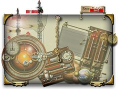 Steampunk Widget Folder Glass and Brass Icon by yereverluvinuncleber