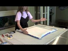 How to Display Your Silk Painting:  The Gallery Wrap.  Free instructional video by professional silk painter and Art teacher, Pamela Glose.  www.MySilkArt.com