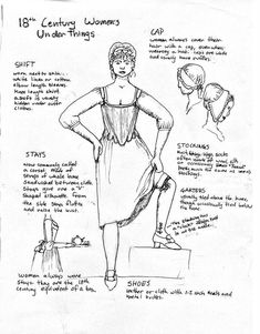 Women's Clothes Part 1 by Goldenspring. on deviantART-Women's Clothes Part 1 by Goldenspring.devi… on deviantART – Part One of Three Women's Clothes Part 1 by Goldenspring.devi… on deviantART – Part One of Three - 18th Century Dress, 18th Century Costume, 18th Century Clothing, 18th Century Fashion, 18th Century Stays, Historical Costume, Historical Clothing, Historical Fun, Medieval Clothing
