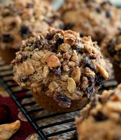Cashew Cranberry Crunch Muffins