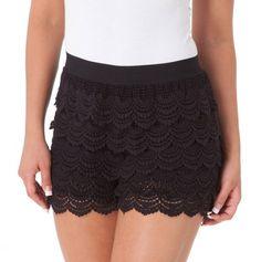 Elastic Waist Crochet Shorts - Summer Fashions by Fate - Events